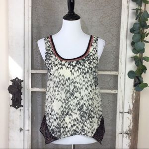4/$25 Silence + Noise by OU Semi-sheer Tank top S